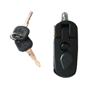 HC-B-10307 BUS DOOR LOCK WITH KEY SILVER BLACK